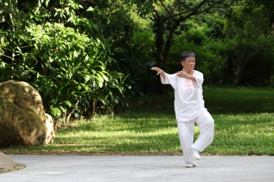 Tai Chi in Lianhuashan park, Shenzhen China