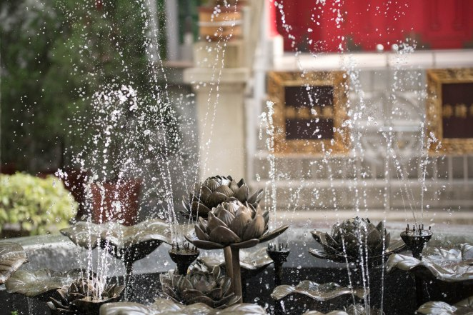 Fantastic fountain in one of the courtyards