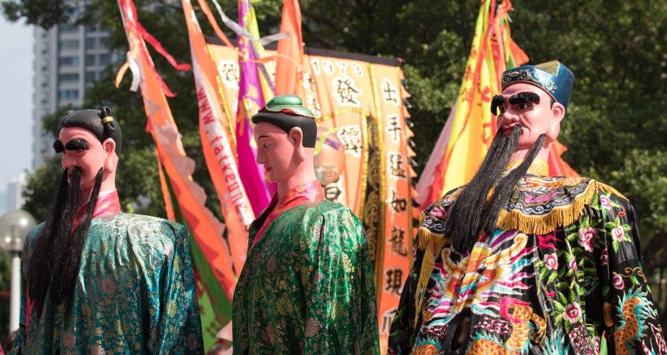 Golden Week festival at Wong Tai Sin Temple in Hong Kong.