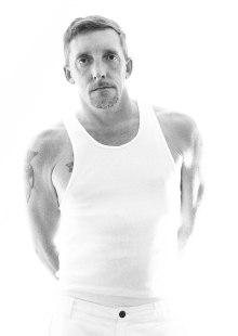 Black and White High Key Self Portrait