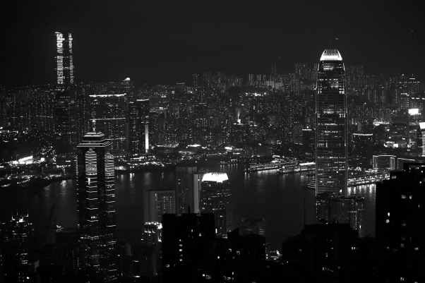 Black and White from The Peak