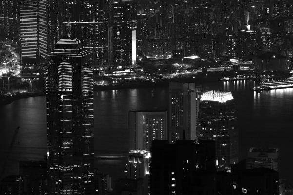 Skyscrapers, Victoria Harbor, Hong Kong